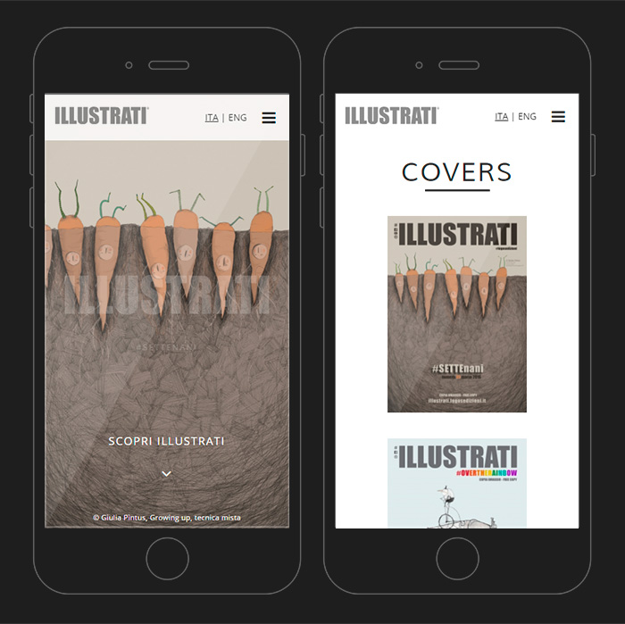 illustrati web mobile